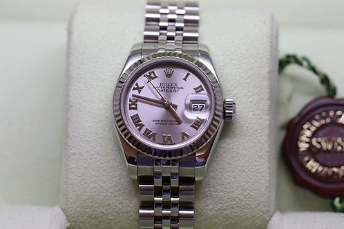 Ladies Rolex Datejust wit Roman Numerals