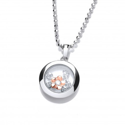 Celestial Rose Gold Mini Forget-Me-Not Pendant without Chain