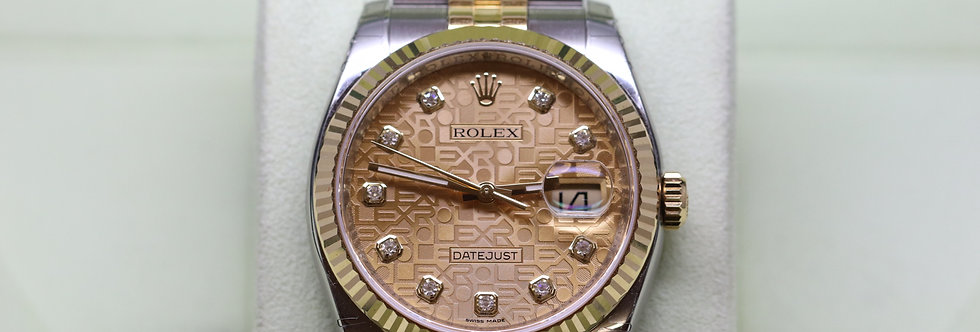 Rolex 18ct and Steel Datejust Diamond Dot [ NEW OLD STOCK ]