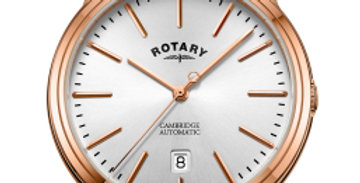 Rotary Rose Gold Cambridge Gents Automatic