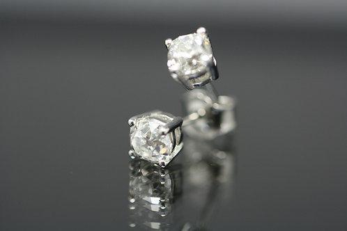 Old Cut Diamond Earrings Total Diamond Weight 1.60ct