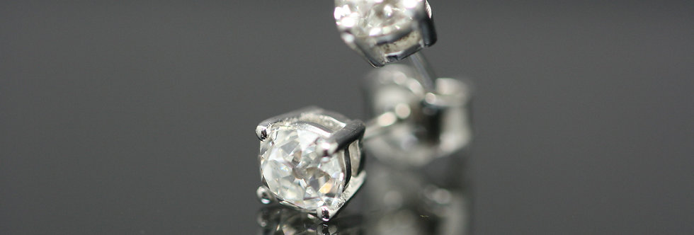Old Cut Diamond Earrings Total Diamond Weight 1.60ct
