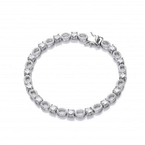 CZ Ovals and Solitaires Elegance Bracelet