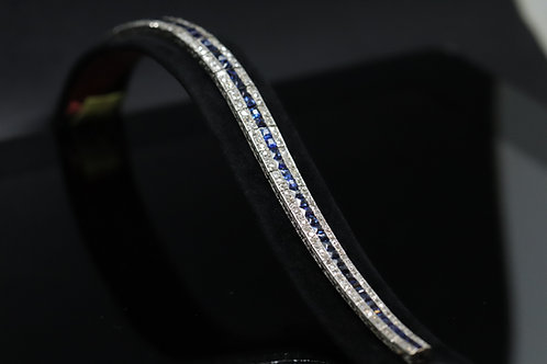 Original Platinum Art Deco Sapphire and Diamond Bracelet