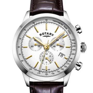 Rotary White Cambridge Gents Chronograph Quartz