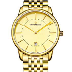 Gold Plated Champagne Dial Mens Watch