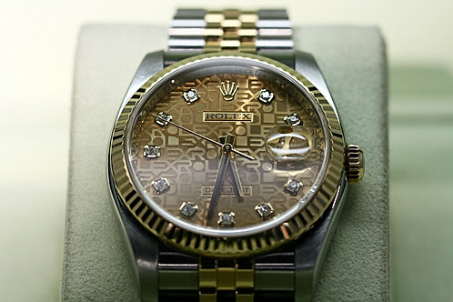 18ct Gold and Steel Rolex Datejust Diamond Dot Jubilee Dial