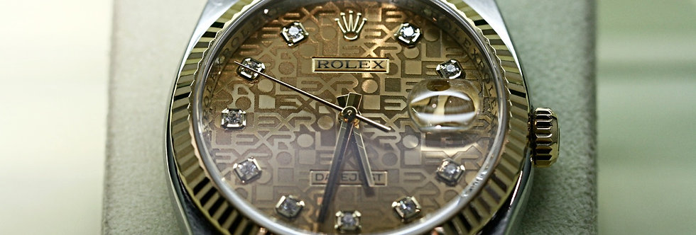 18ct Gold and Steel Datejust with Jubilee Dial