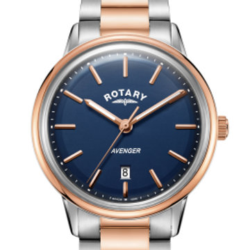 Rotary Two Tone Rose Gold Avenger Gents Quartz