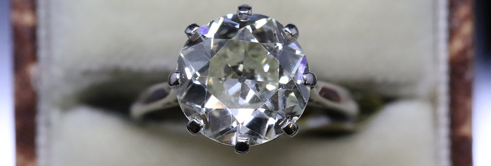 4.50ct 18ct White Gold Diamond Solitaire