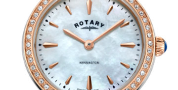 Rotary Two Tone Rose Gold Kensington Ladies Quartz