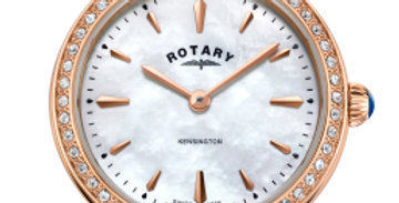 Rotary Rose Gold Kensington Ladies Quartz