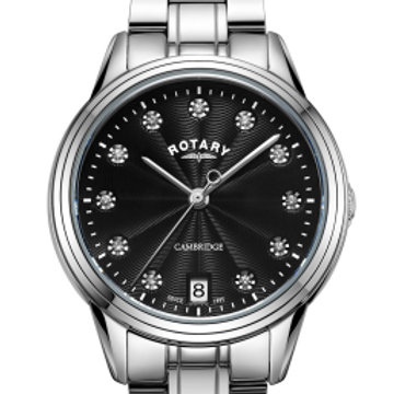 Rotary White Cambridge Ladies Quartz