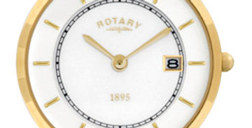 Rotary Ultra Slim Two Tone Gold Watch