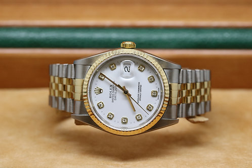 Rolex Datejust Diamond Dot 18ct Gold & Stainless Steel