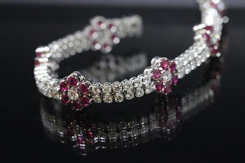 4.5ct Ruby and Diamond Fancy Dress Bracelet