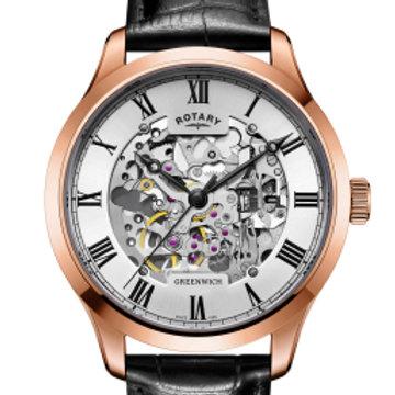 Men's Rose Gold plated Skeleton watch