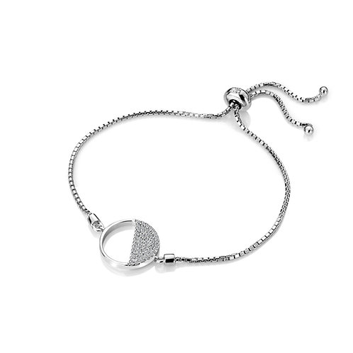 Horizon White Topaz Circle Bracelet