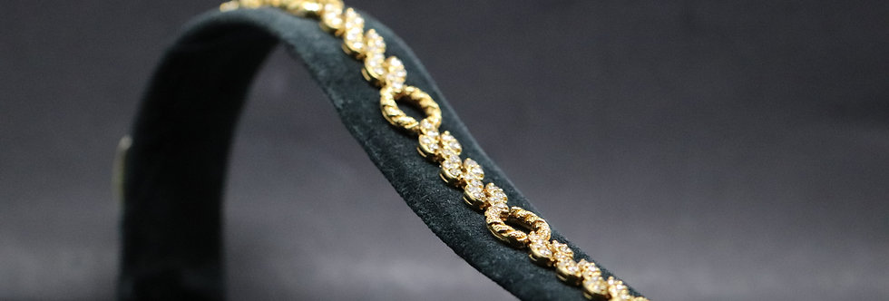 18ct Yellow Gold Diamond Bracelet