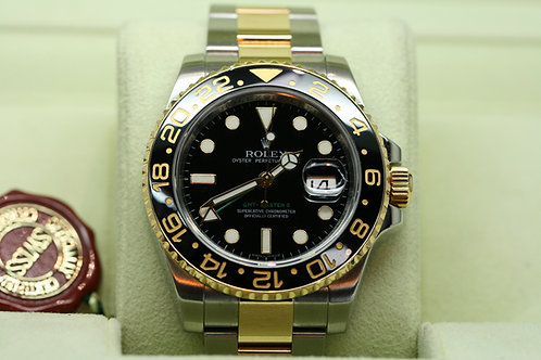 18ct Gold and Steel Rolex GMT MASTER II