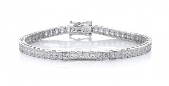 Small Square CZ Tennis Bracelet