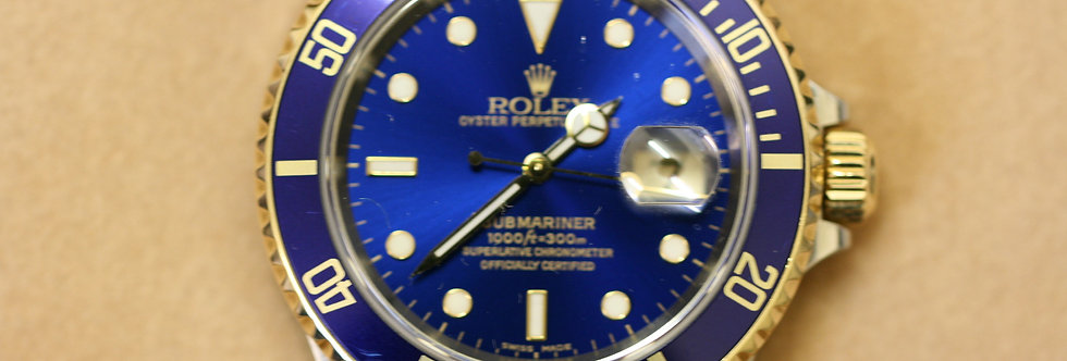 Rolex Submariner Blue Kit in 18ct Gold and Stainless Steel
