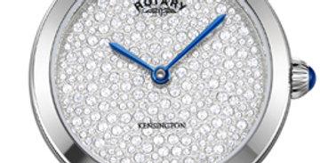 Rotary Kensington Pave Steel Quartz Watch