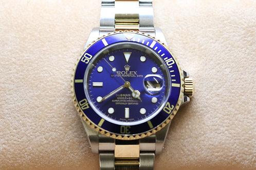 Rolex Submariner 18ct and Steel Bluekit