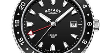 Rotary Henley Black Stainless Steel Quartz Watch
