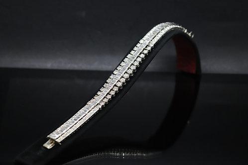 Platinum 30ct Mixed Cut Bracelet