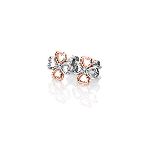Luck in Love Earrings - Rose Gold Plate