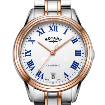 Rotary Two Tone Rose Gold Cambridge Ladies Quartz