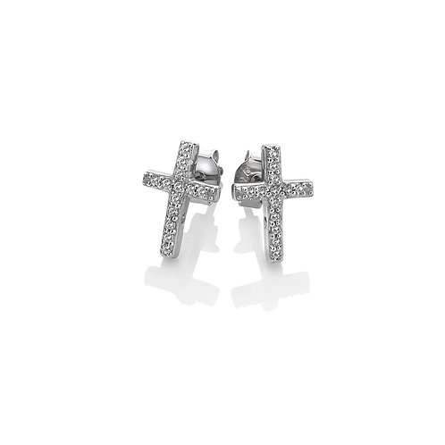 Striking Cross Earrings