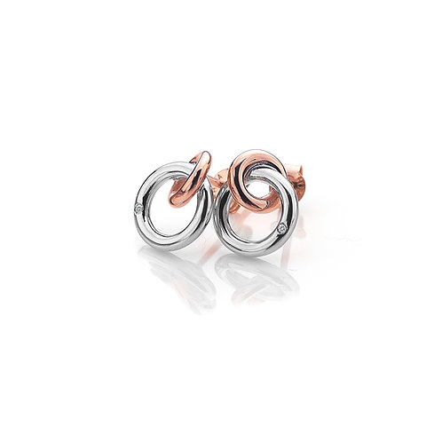 Eternal Earrings - Rose Gold Plate Accents