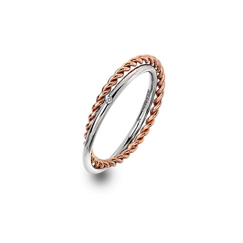 Unity Ring - Rose Gold Plate Accents-S