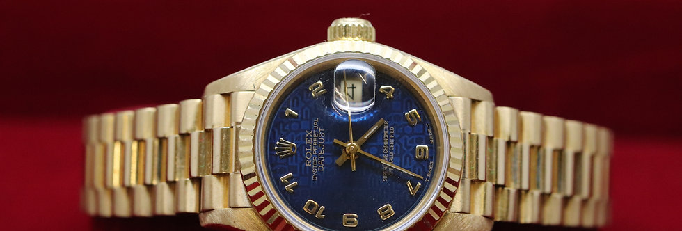 Ladies Rolex Datejust 18ct Gold Jubilee Dial 26mm