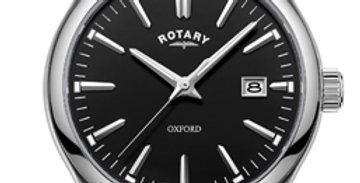 Rotary Oxford Black Stainless Steel Quartz Watch