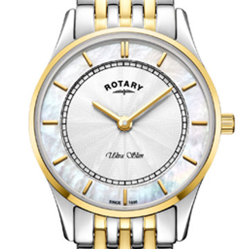 Rotary Ultra Slim Two Tone Gold Quartz Watch