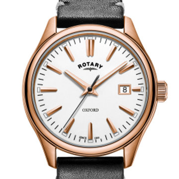 Rotary Rose Gold Oxford Gents Quartz