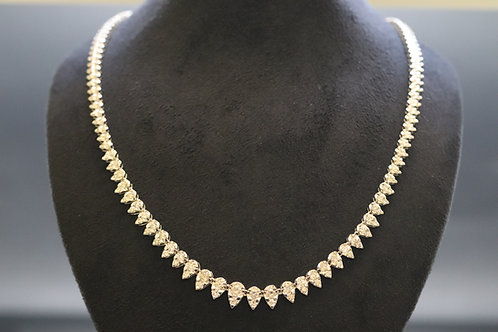 Pre-owned Brilliant Cut Diamond Necklace 5.00ct