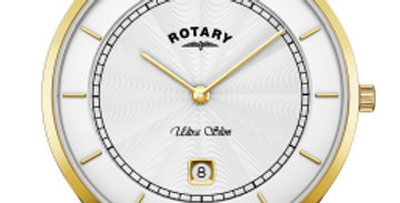 Rotary Ultra Slim Two Tone Gold Quartz Watch