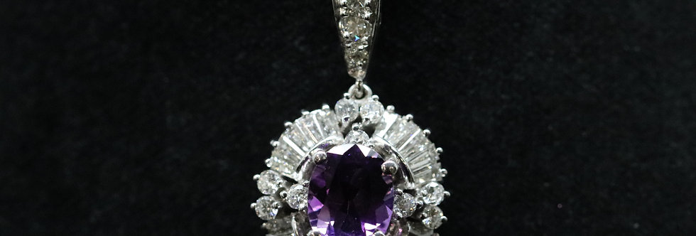 Secondhand Amethyst and Diamond Pendent