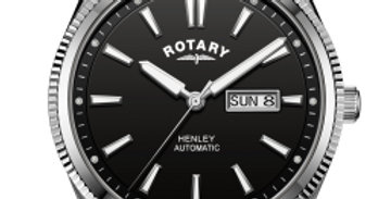 Rotary Gents Strap White Serrated Bezel Henley