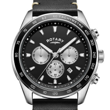 Rotary Black Henley Gents Chronograph Quartz
