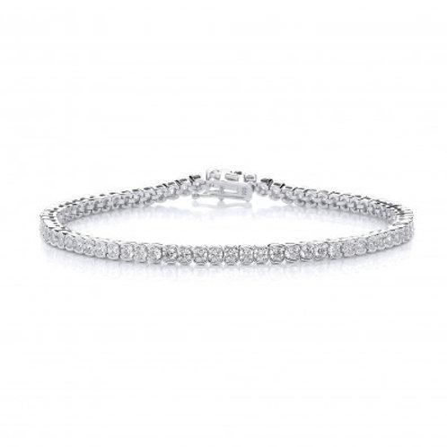 CZ Circles Tennis Bracelet