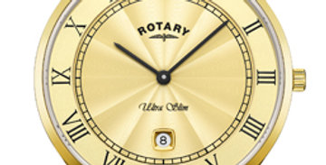 Rotary Ultra Slim Gold Stainless Steel Watch