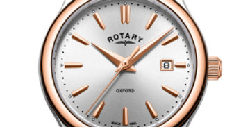 Rotary Two Tone Rose Gold Oxford Ladies