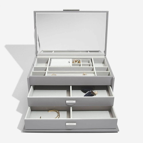 NOTTING HILL GREY LARGE JEWELLERY BOX