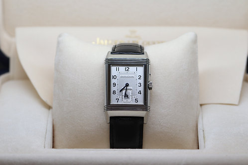 Jaeger-Le-Coultre Reverso Duoface Night and Day on black leather strap