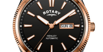 Rotary Gents Two Tone Rose Serrated Bezel Henley